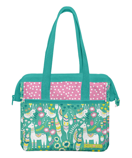 729bcd9cf9fe Millie Loves Lily Turquoise Llama Lunch Bag