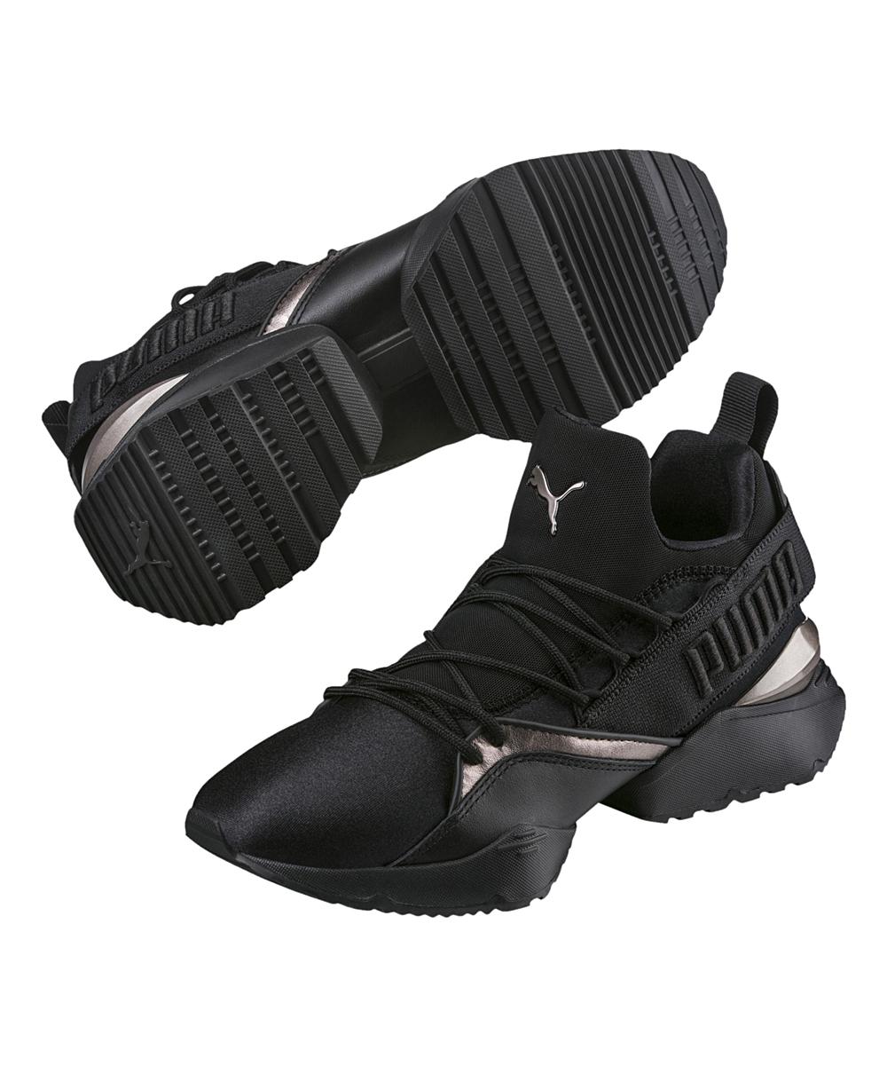 PUMA Black Muse Maia Luxe Hi-Top Sneaker - Women  139317a8990