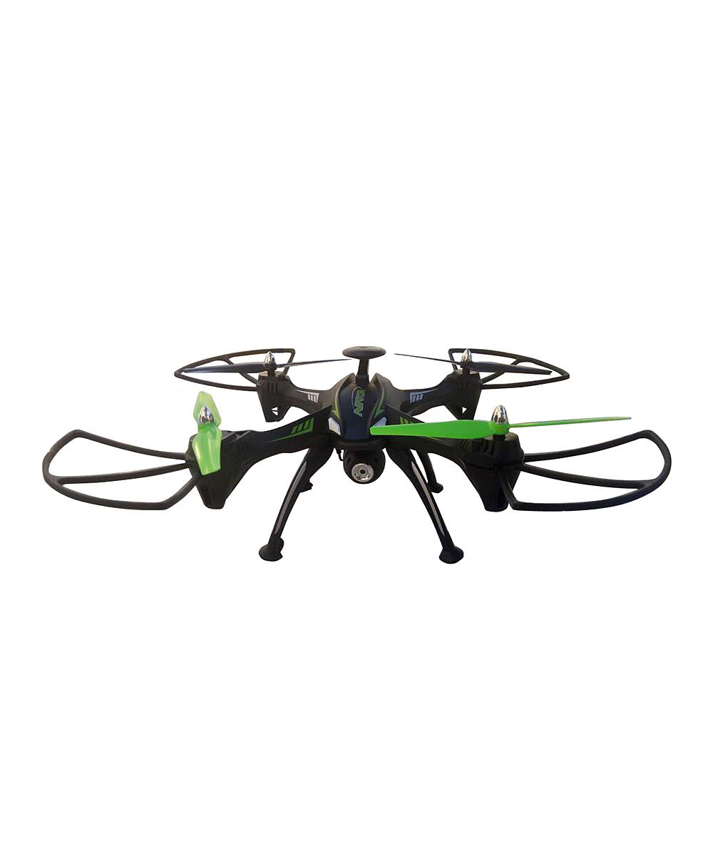 TechCOMM   Black - Black Wifi Camera RC Quadcopter Drone