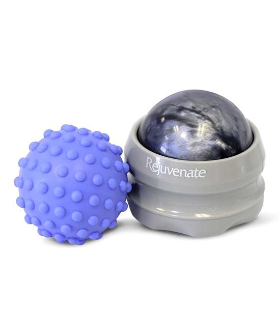 Gray & Blue Hand Roller & Massage Ball