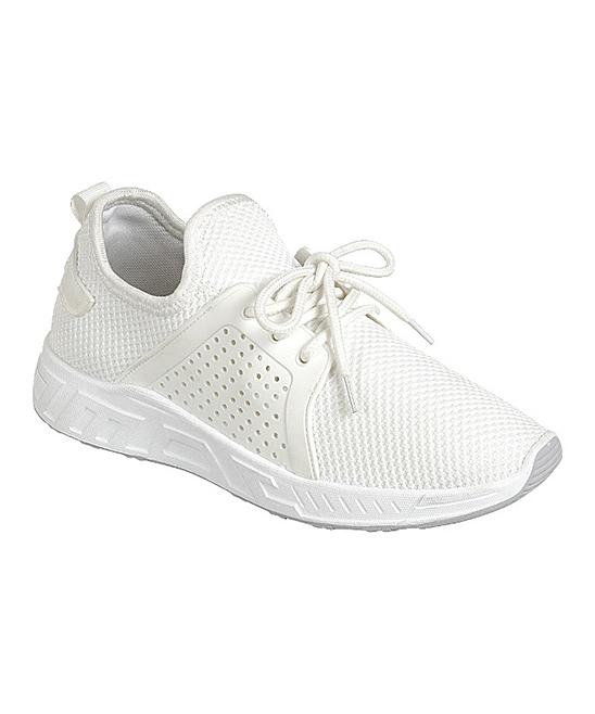 Forever Link Shoes Women's Sneakers WHITE - White Running Sneaker - Women