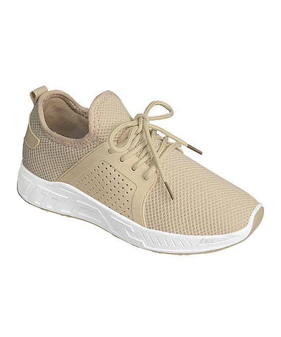 Forever Link Shoes Women's Sneakers BEIGE - Beige Running Sneaker - Women