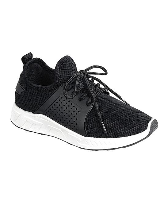 Forever Link Shoes Women's Sneakers BLACK - Black Running Sneaker - Women