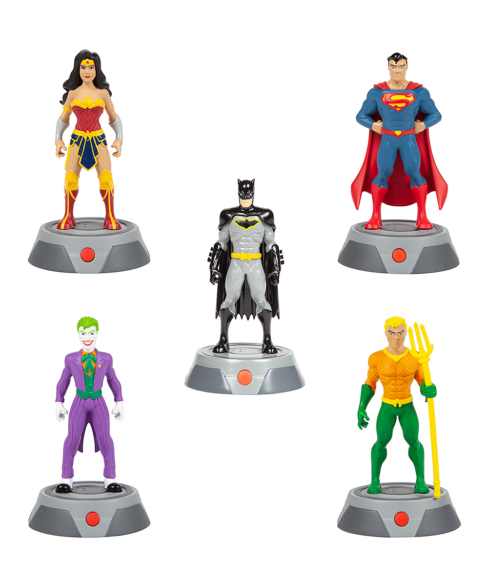 World Tech Toys  Remote Control Toys  - DC Super FX Voice Figure with Real Audio - Set of Five