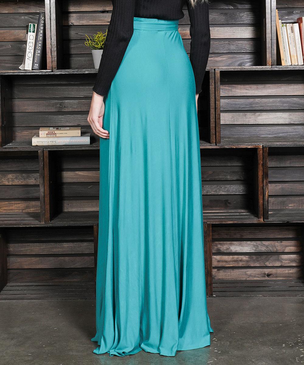 880e190581 ... Womens emerald Emerald Tie-Belt High Waist Maxi Skirt - Alternate Image  ...