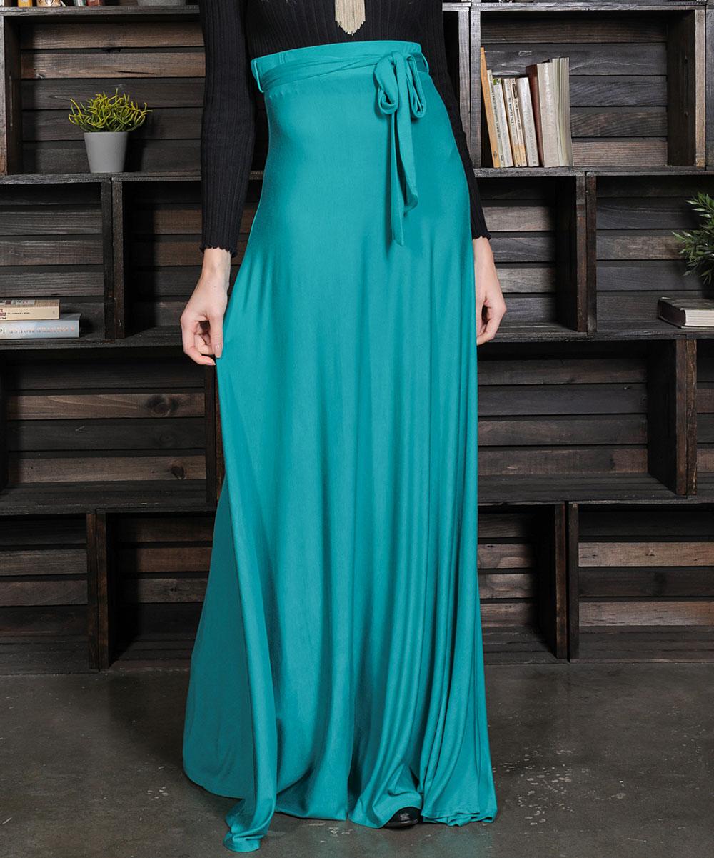 91a88dbf92 ... Womens emerald Emerald Tie-Belt High Waist Maxi Skirt - Alternate Image  5
