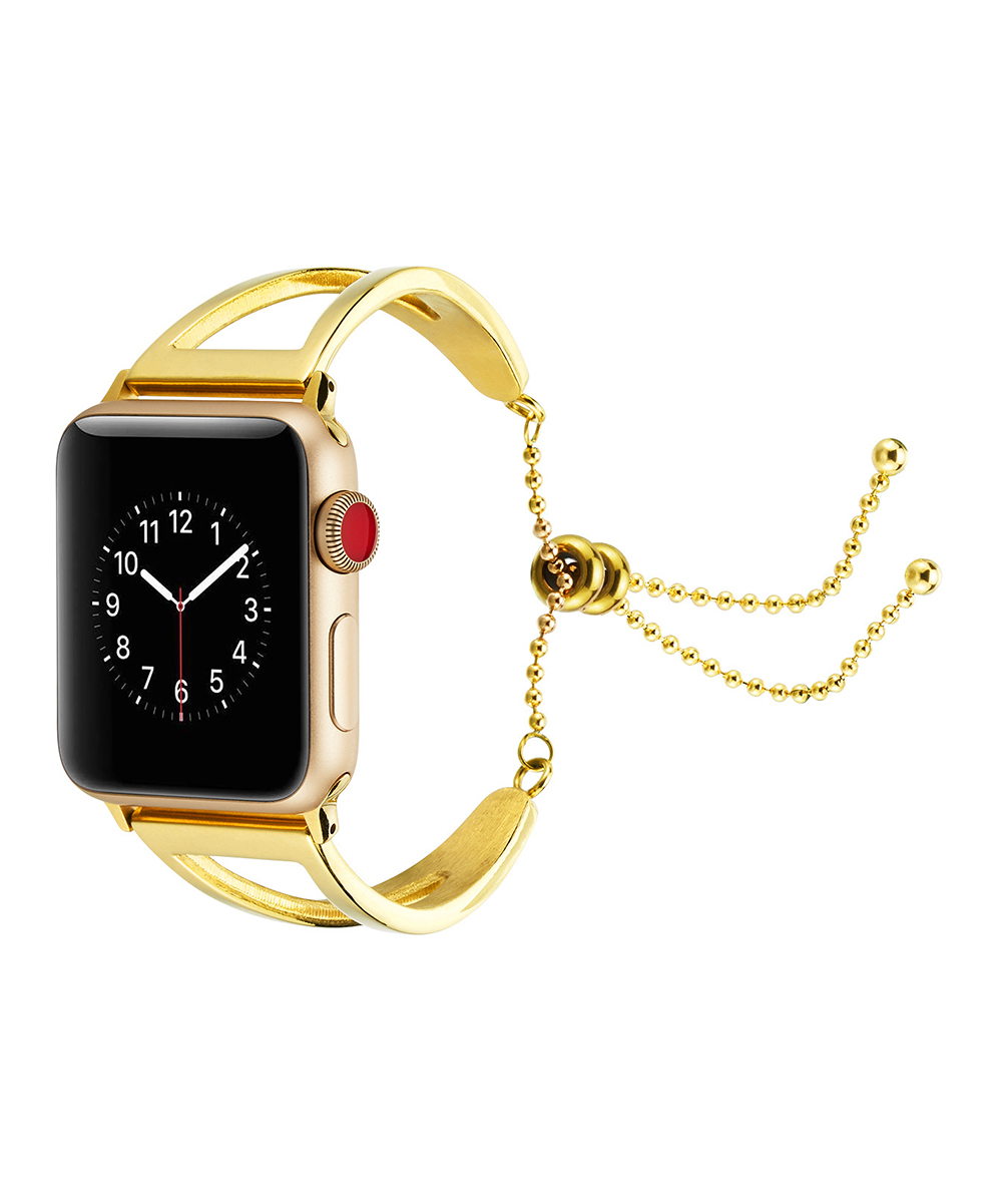 Epic Deals  Replacement Bands Gold - Goldtone Sliding Bead Smartwatch Band for Apple Watch