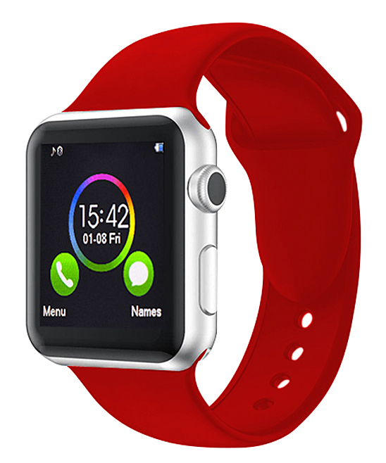 Epic Deals  Replacement Bands Red - Red Silicone Smartwatch Band