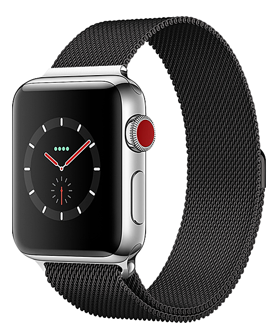 Epic Deals  Replacement Bands Black - Black Steel Mesh Smartwatch Band for Apple Watch