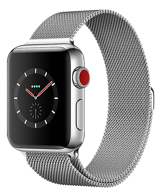 Epic Deals  Replacement Bands Silver - Silvertone Steel Mesh Smartwatch Band for Apple Watch