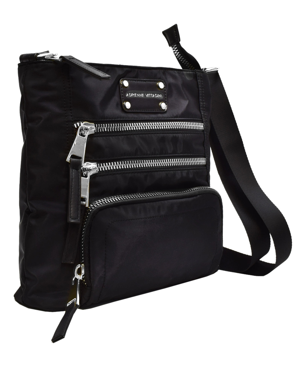... Womens Black Triple-Zip Crossbody Bag - Alternate Image 2 ...