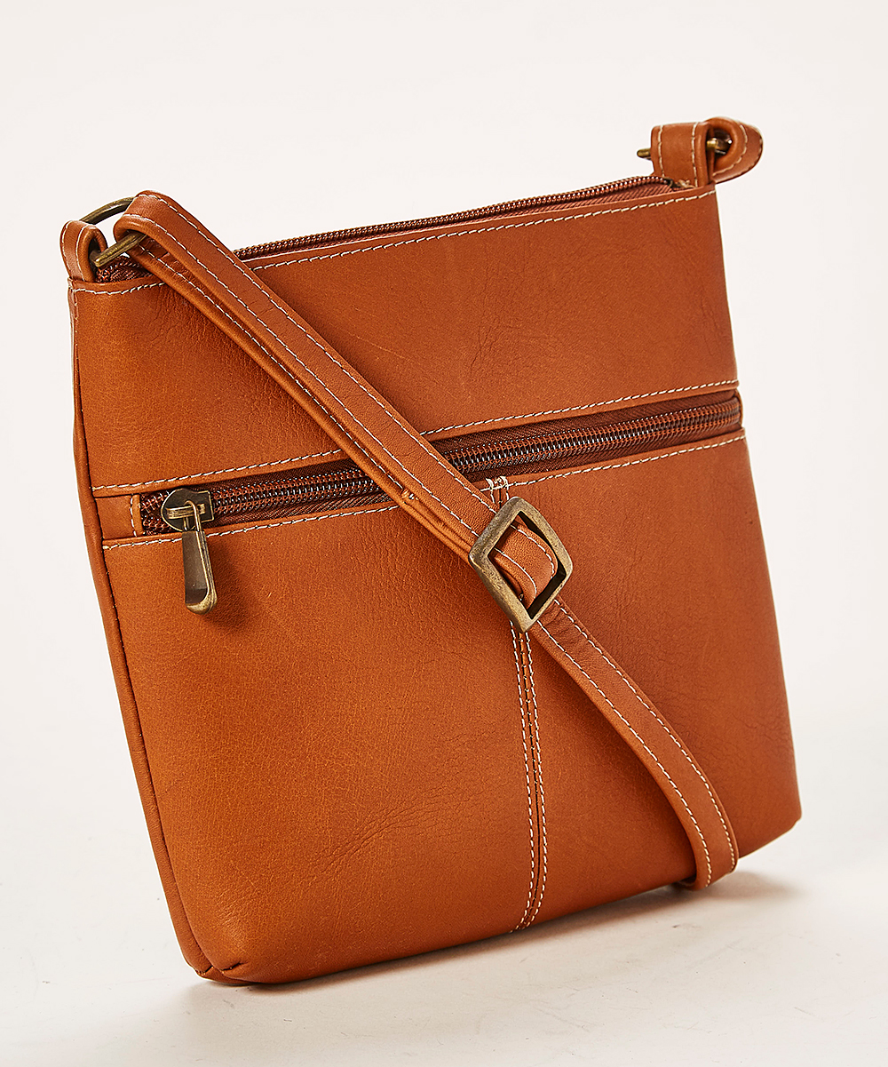 8 viewing. Tan Lifestyle Leather Crossbody Bag 00412a42438ab