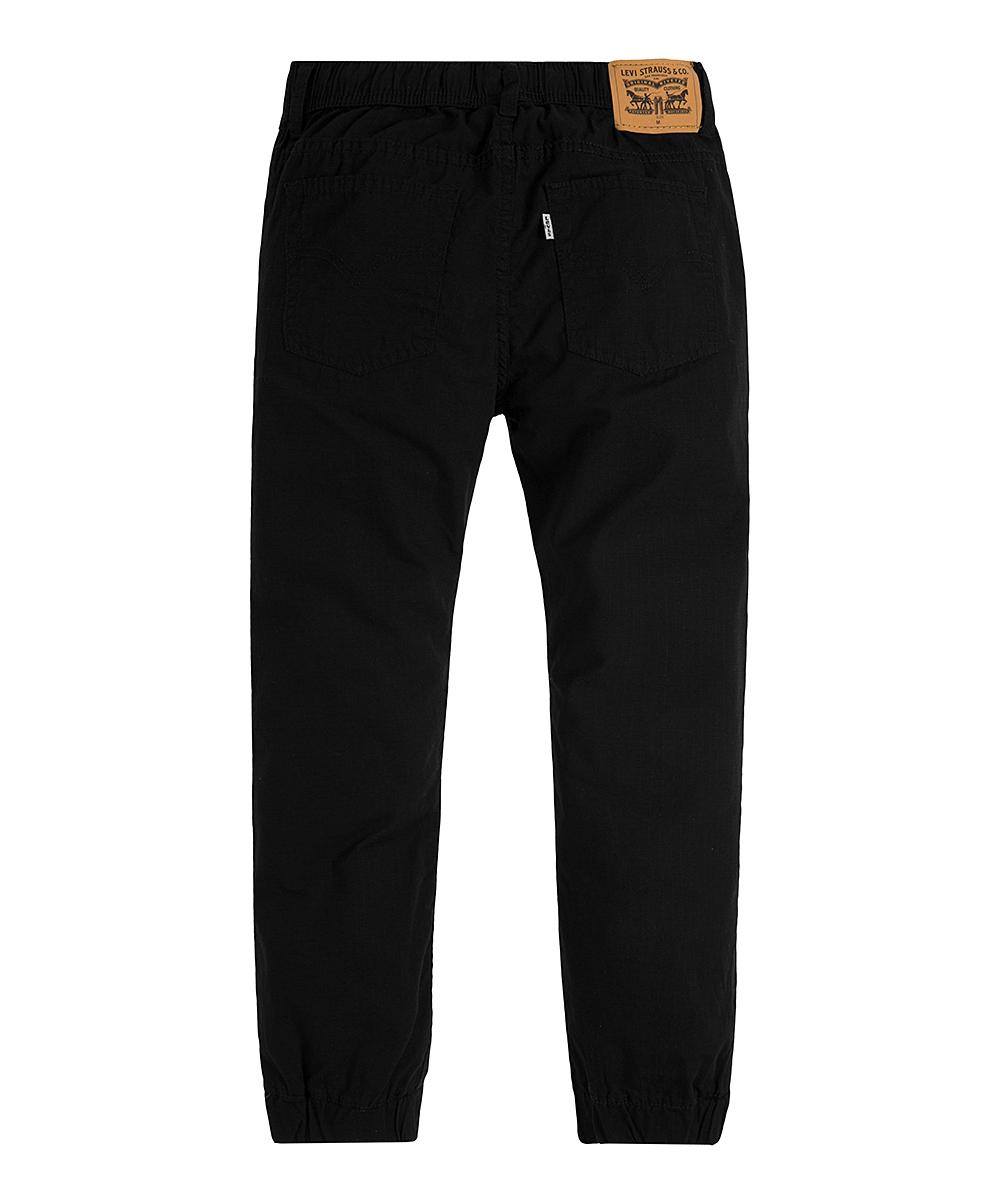 4e72363804 Levi's Black Slim-Fit Ripstop Joggers - Boys