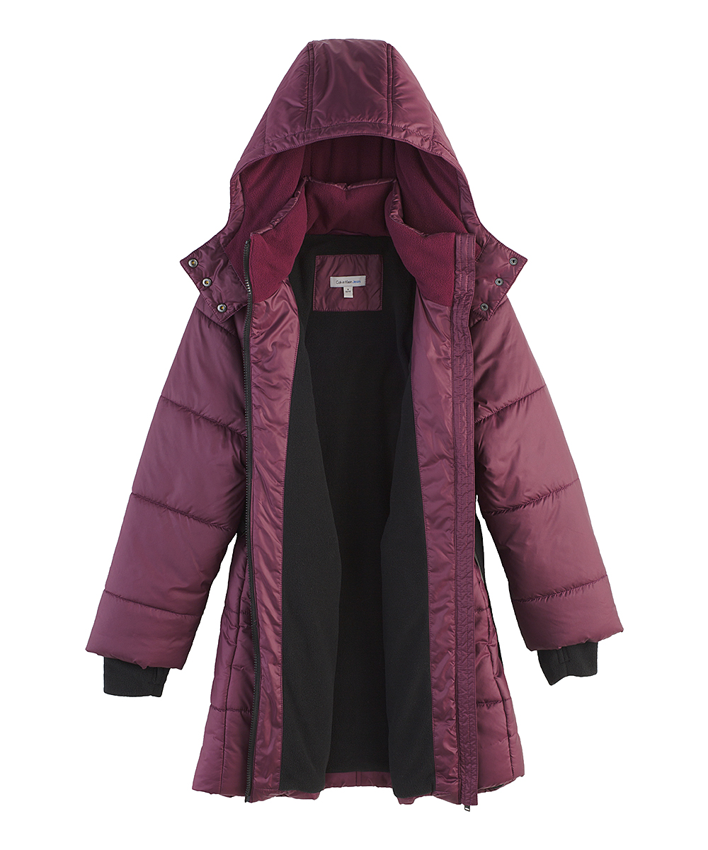13d24191a6fd Calvin Klein Jeans Wine Hooded Aspen Jacket - Toddler   Girls