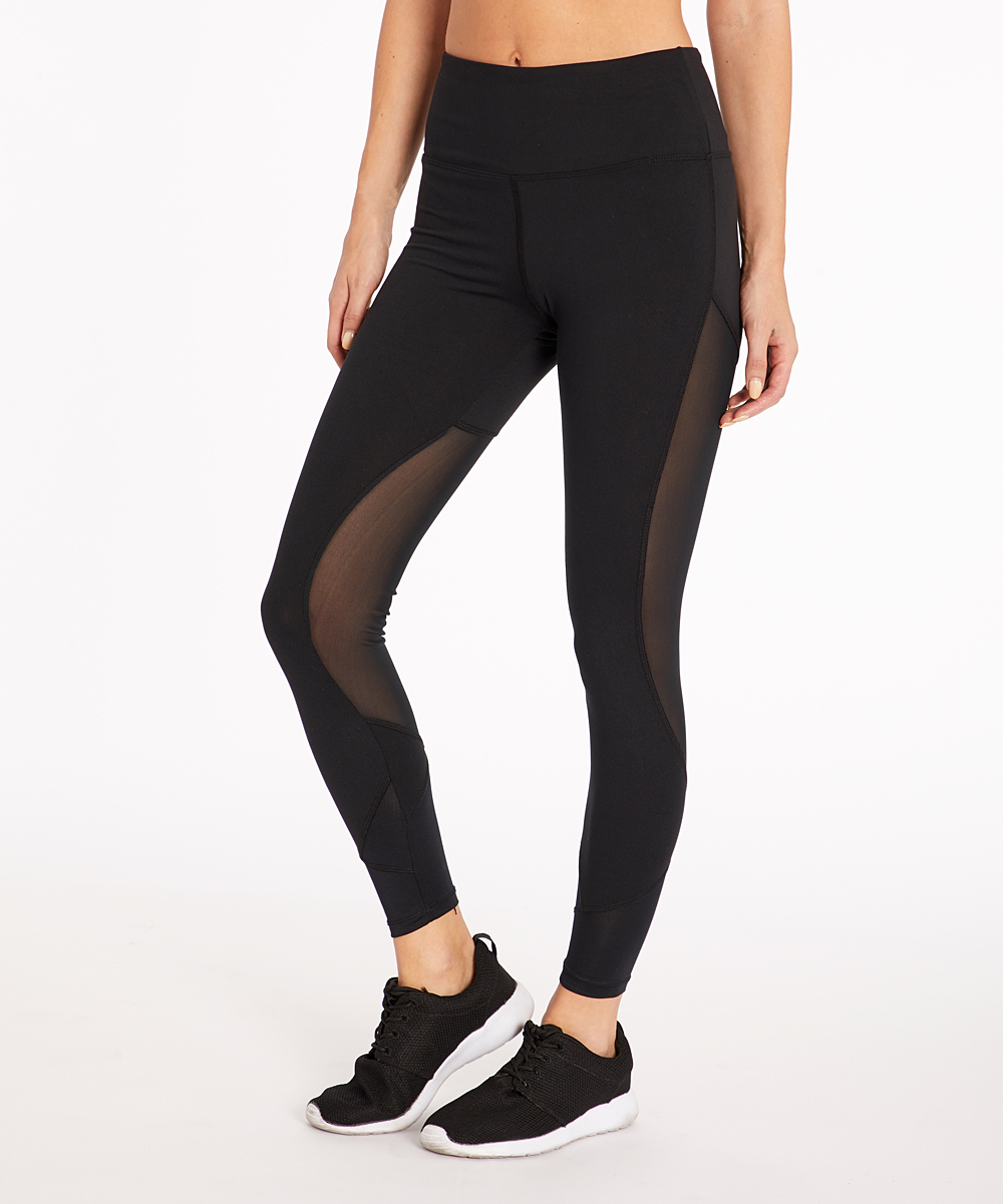 22c80bc87651e Marika Black Tracy High-Waist Tummy Control Leggings - Women | Zulily