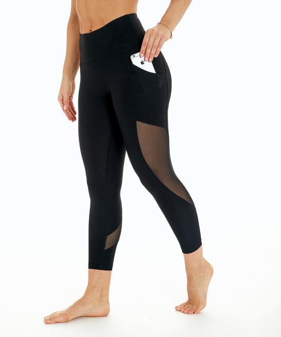 ba0945ca9e8237 Marika Black Dancer High-Waist Pocket Crop Leggings - Women | Zulily