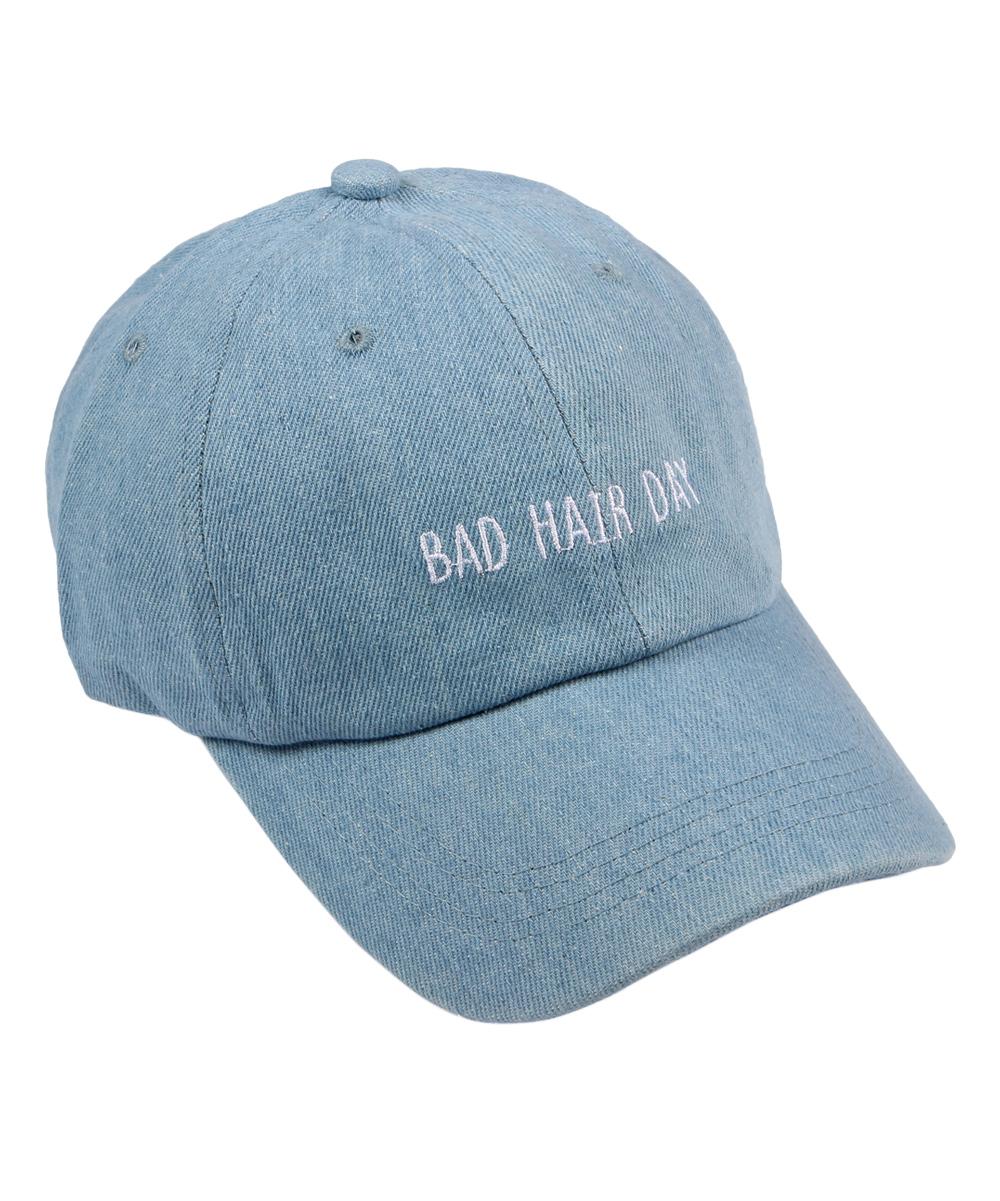 Riah Fashion Light Denim Bad Hair Day Baseball Cap  0c160ed0b