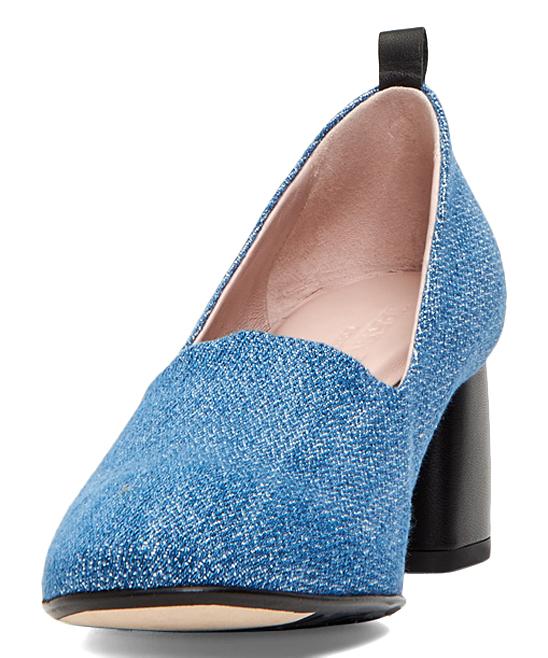 b92bb4db46f5 ... Womens BLUE BLACK Denim Ciana Pump - Alternate Image 4 ...