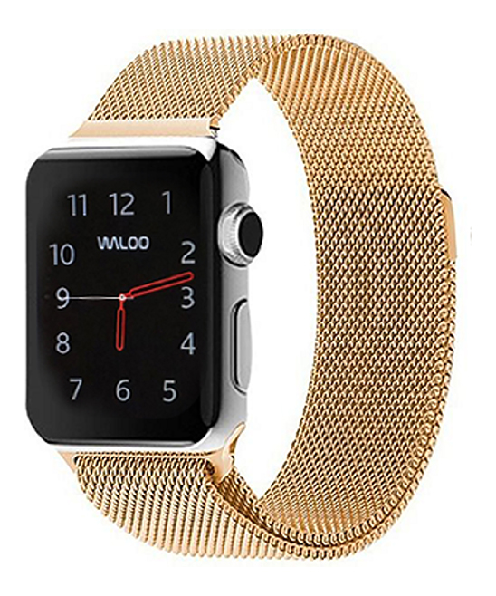 Waloo  Replacement Bands Yellow - Yellow Gold Metal Loop Band for Apple Watch 1/2/3/4