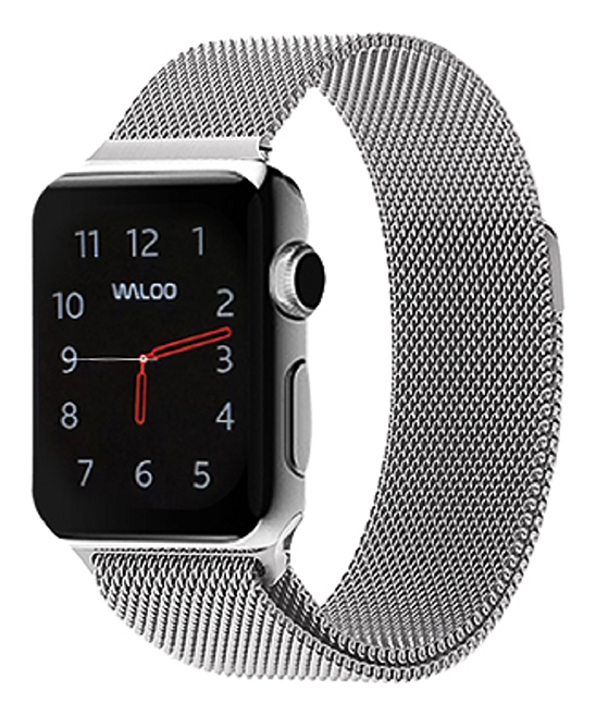 Waloo  Replacement Bands Silver - Silver Metal Loop Band for Apple Watch 1/2/3/4