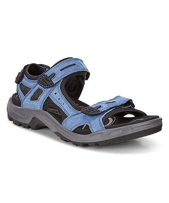 ECCO Indigo 5 Blue Lagoon Off-Road Leather Sandal - Men  568c27164d4