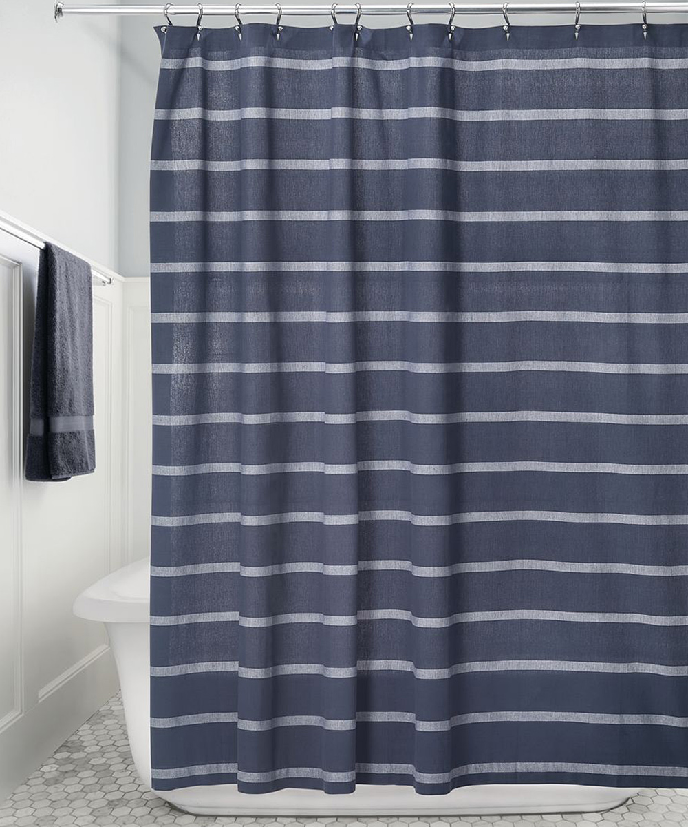 Love This Product Navy White Stripe Shower Curtain