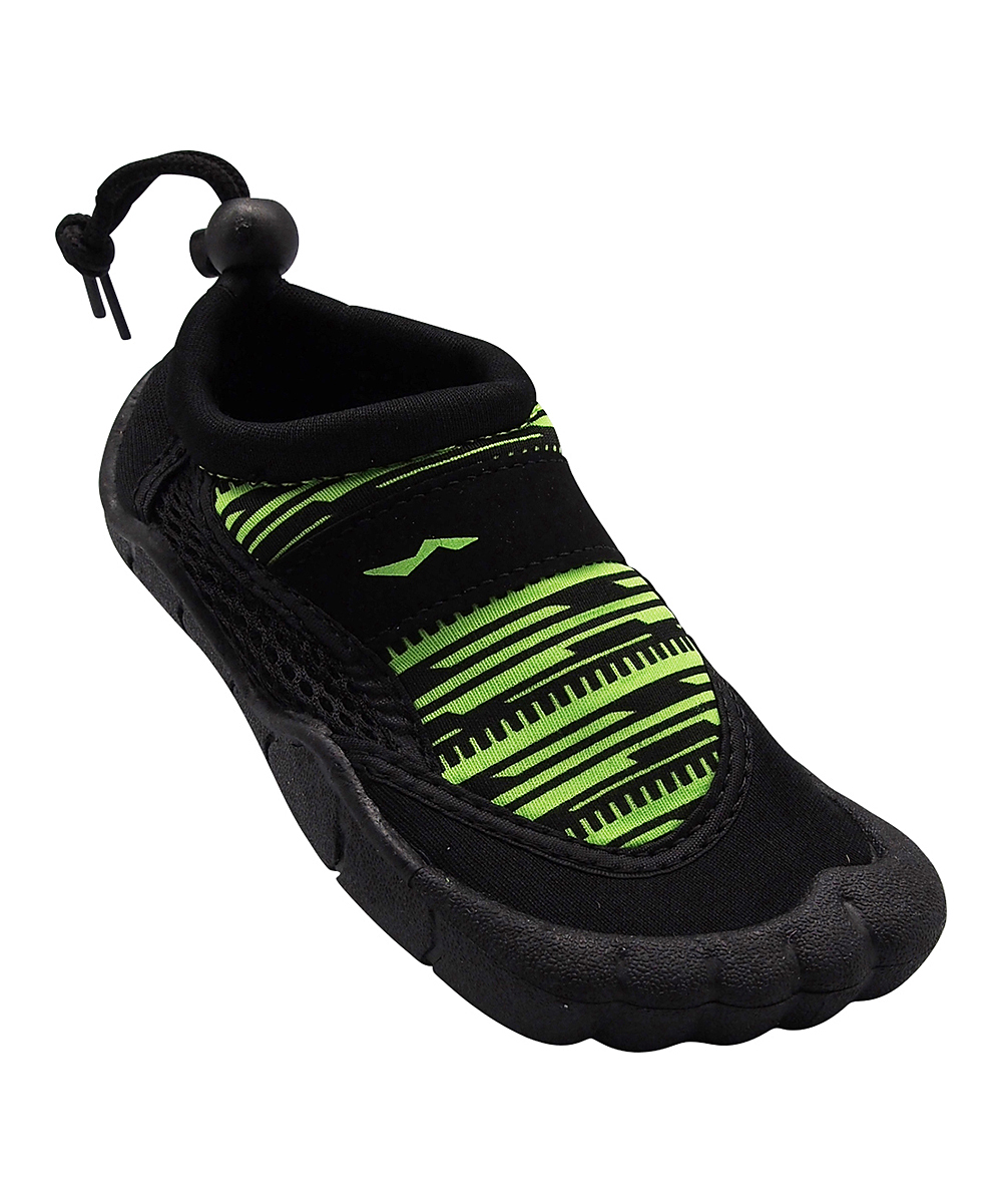Norty Boys' Water shoes Lime - Lime & Black Five-Toe Water Shoe - Boys