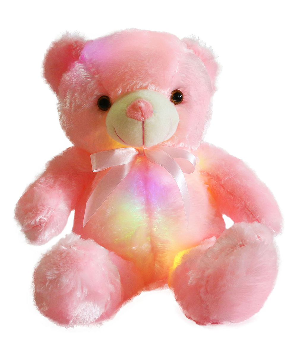 Step Pink LED Teddy Bear Stuffed Animal  9a732fdf4d