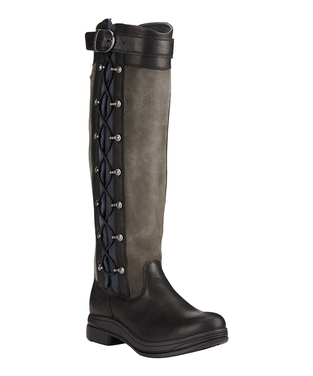 6def04f053f Ariat Black & Gray Grasmere Pro Leather Riding Boot - Women