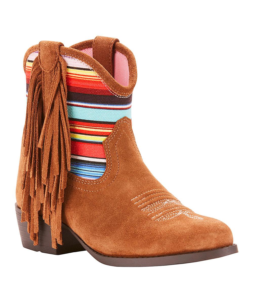 f79ca6d9bc182 Ariat Powder Brown & Pink Duchess Ankle Boot - Girls | Zulily