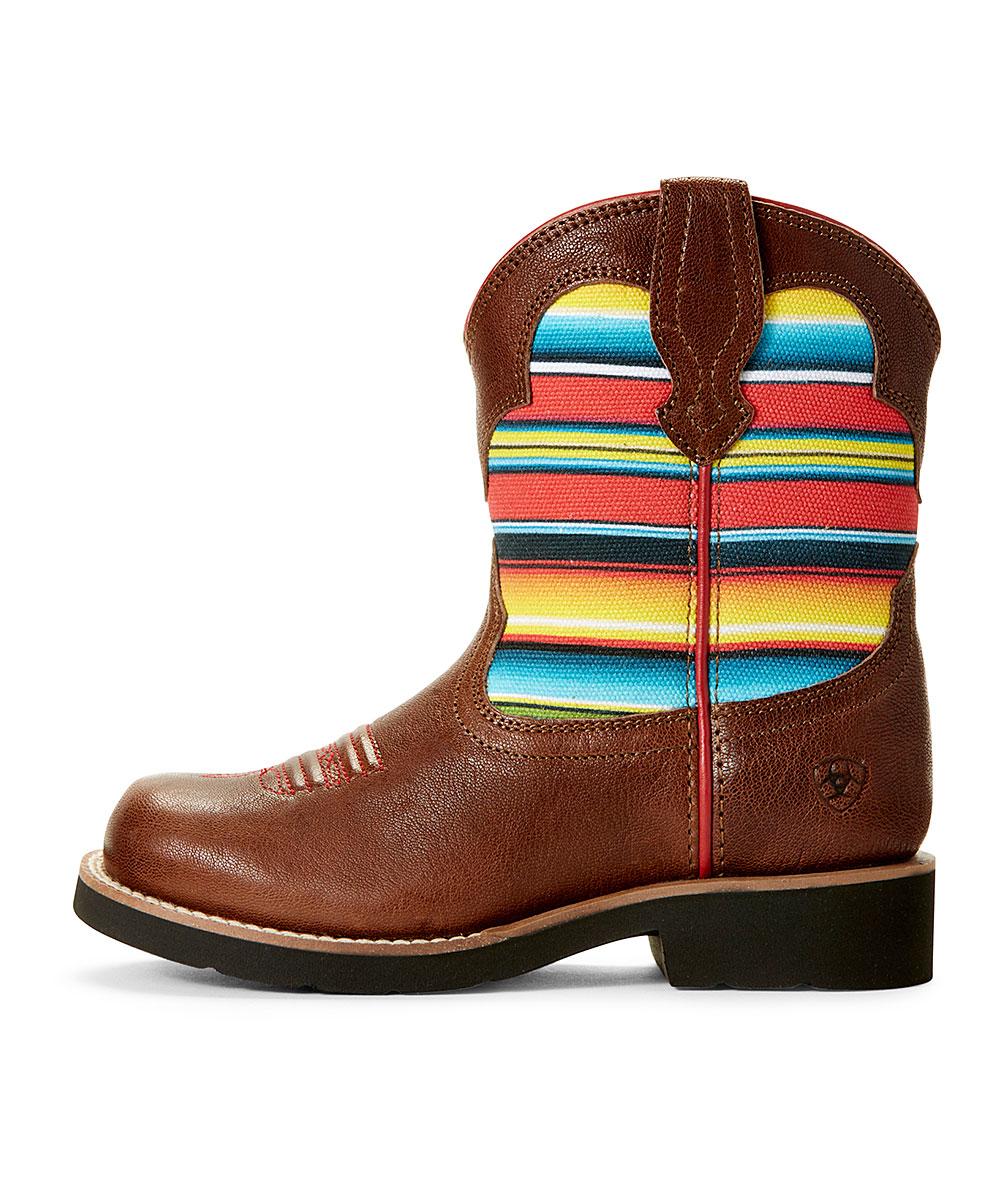 fc958a7f299 Ariat Brown & Pink Fatbaby Bell Cowboy Boot - Kids