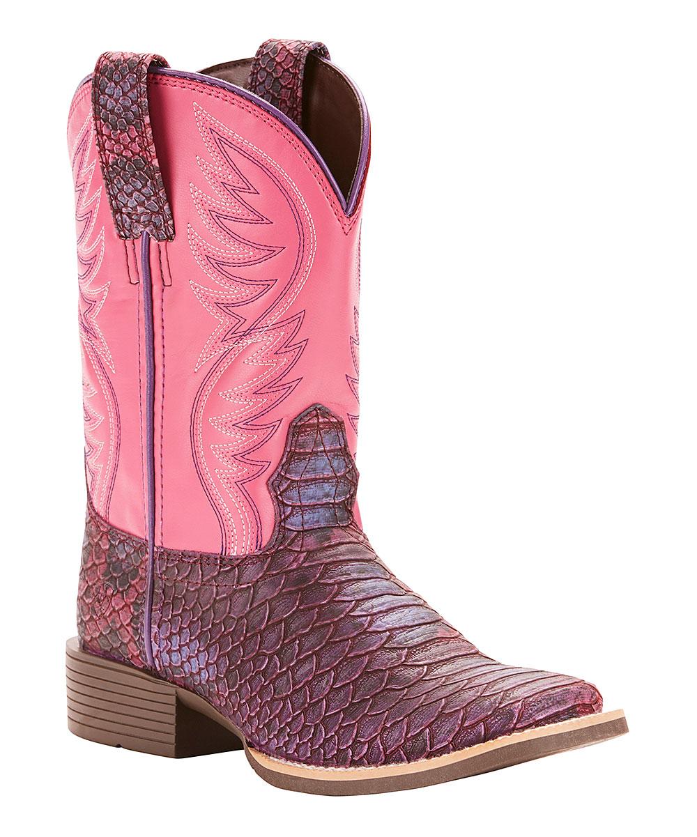 3b1be198a3b Ariat Lavender Brumby Legarto Cowboy Boot - Girls