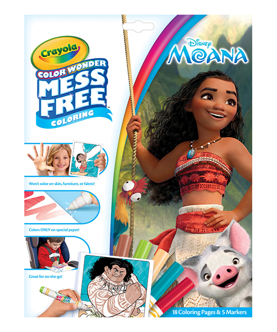 Moana Mess-Free Color Wonder Set