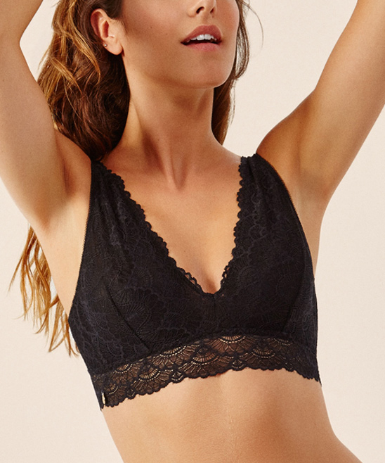 fc6372cebbe1f7 ... Womens BLACK Black Ikaheka Lace Bralette - Alternate Image 2