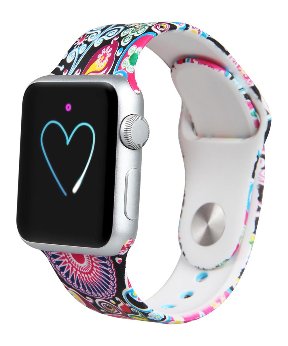 Geometric Apple Watch Silicone Sport Band