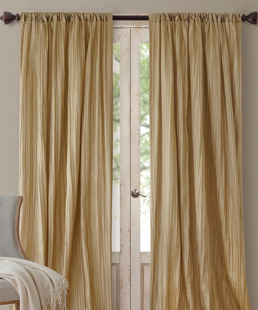 Gold Athena Valence Curtain Panel