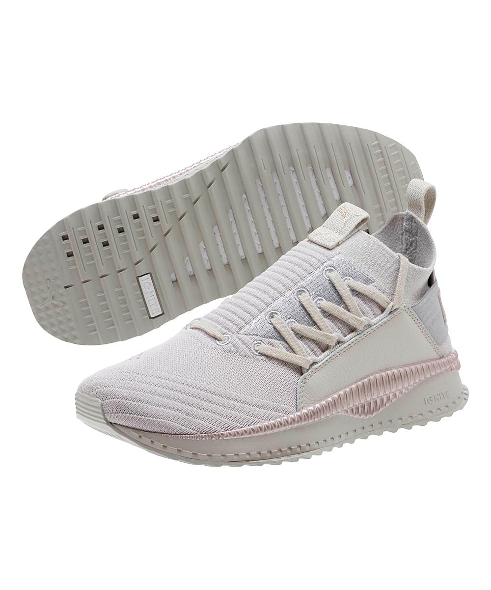 b120339db1a9 PUMA Gray-Violet   Metallic Beige Tsugi Jun Sneaker - Women