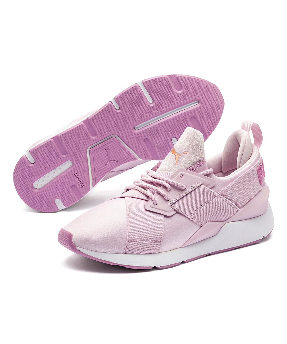 457838b38cc7ca PUMA Winsome Orchid   Smoky Grape Muse Satin II Sneaker - Women