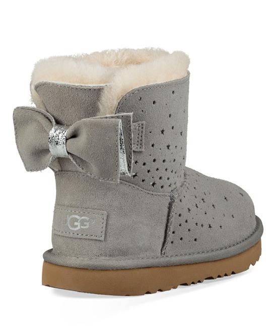 7a87aa4f1be UGG® Seal Stargirl Classic Mini II Bow Suede Boot - Kids