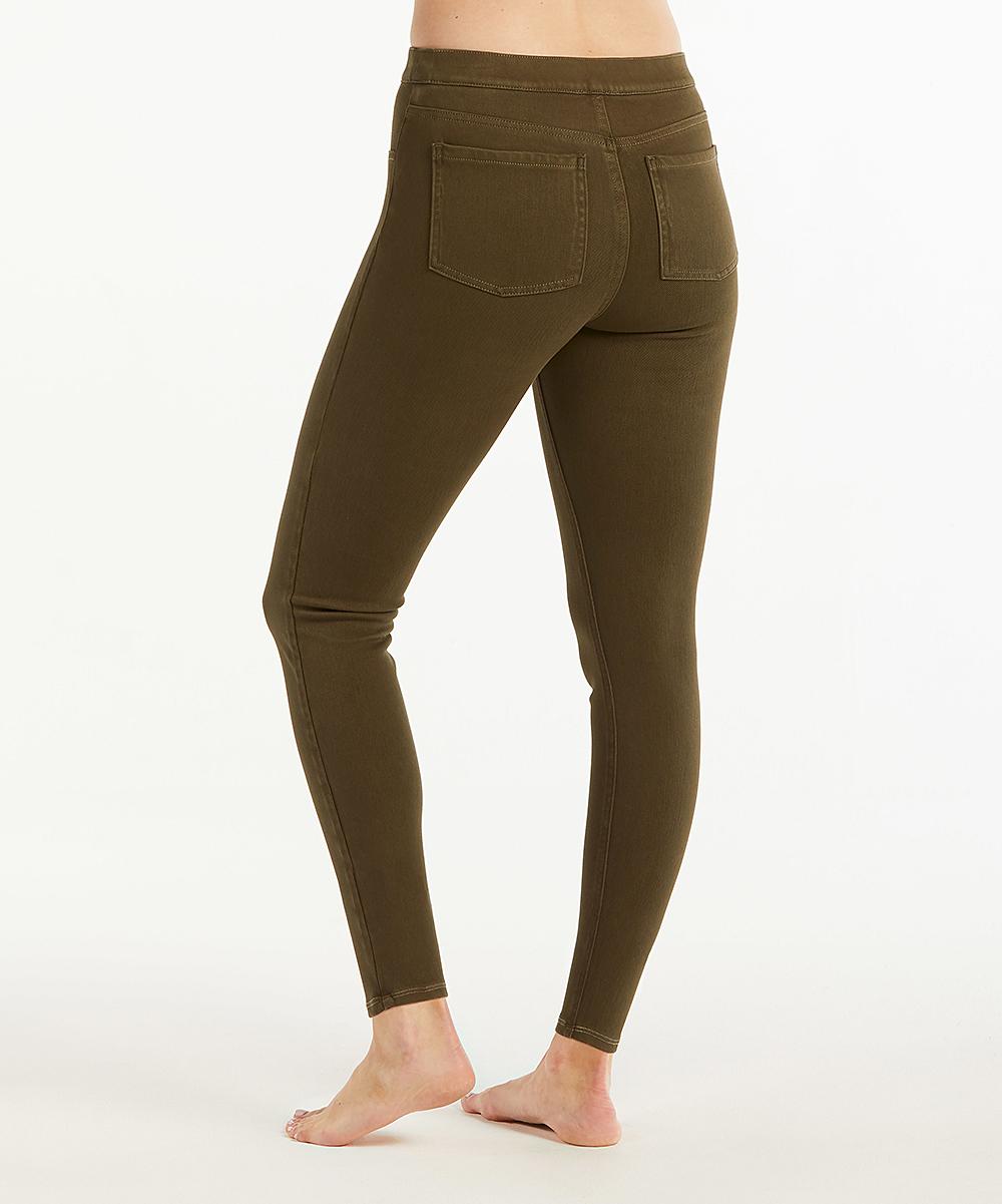 bb442c4e94fe9 ... Womens DARK OLIVE Ankle Jean-Ish Leggings - Dark Olive - Alternate  Image 2 ...