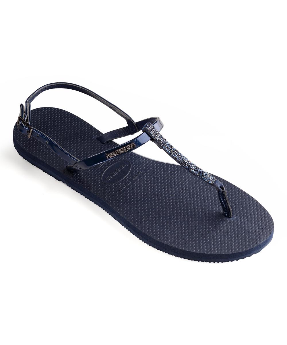 2d9351ea9 ... Womens NAVY BLUE Navy Rhinestone-Accent You Riviera Sandal - Alternate  Image 2 ...