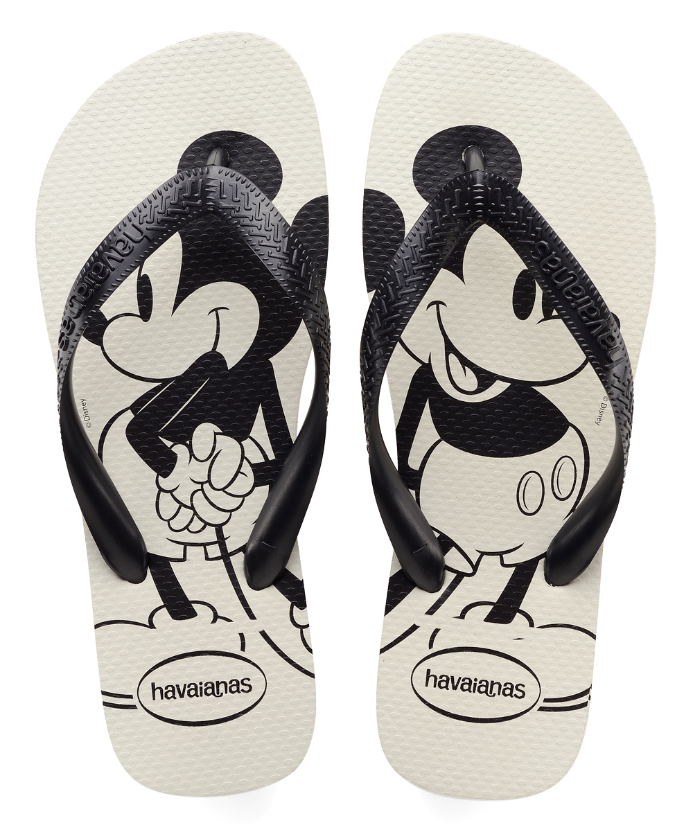 256029190c0dae Havaianas Mickey Mouse White   Black Top Flip Flop - Men