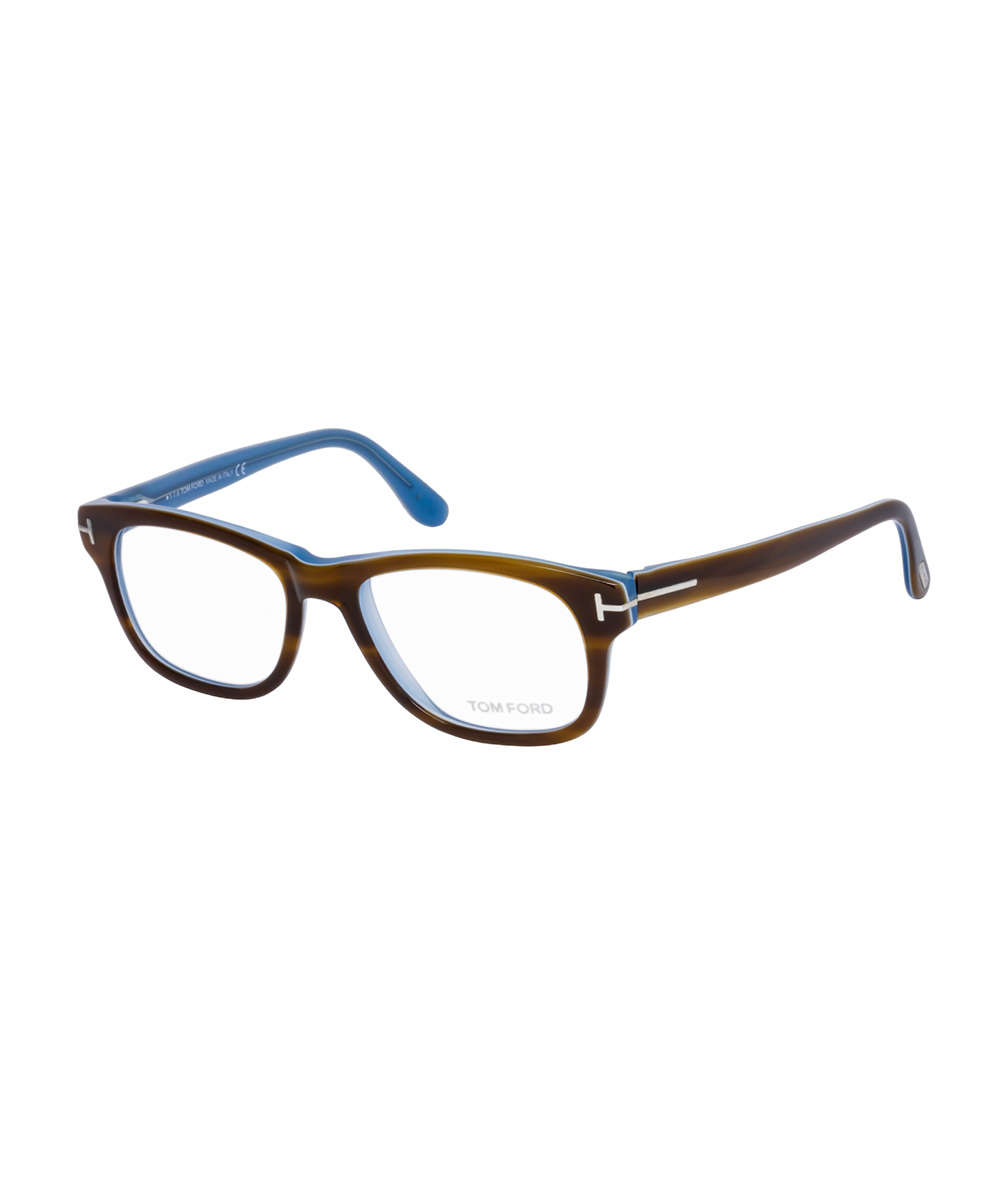 Havana & Blue Square Eyeglasses