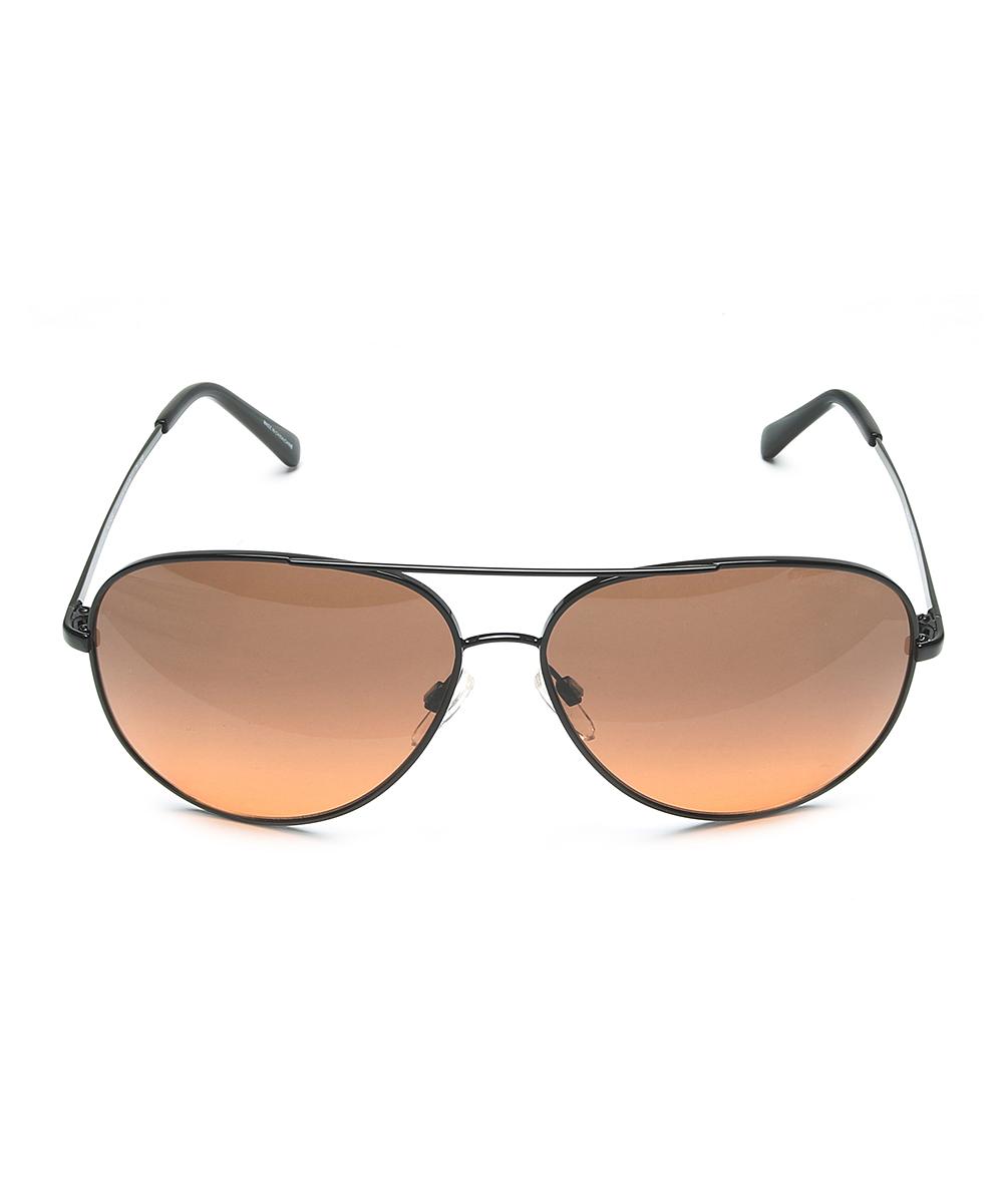 94d644d203b7 ... Womens BLACK Black & Rose Gradient Kendall Aviator Sunglasses -  Alternate Image 2