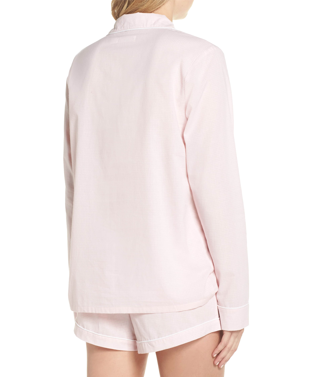 ... Womens SEASHELL PINK   WHITE CHECK Seashell Pink Check Cassandra Sleep  Set - Alternate Image 2 c7f050134