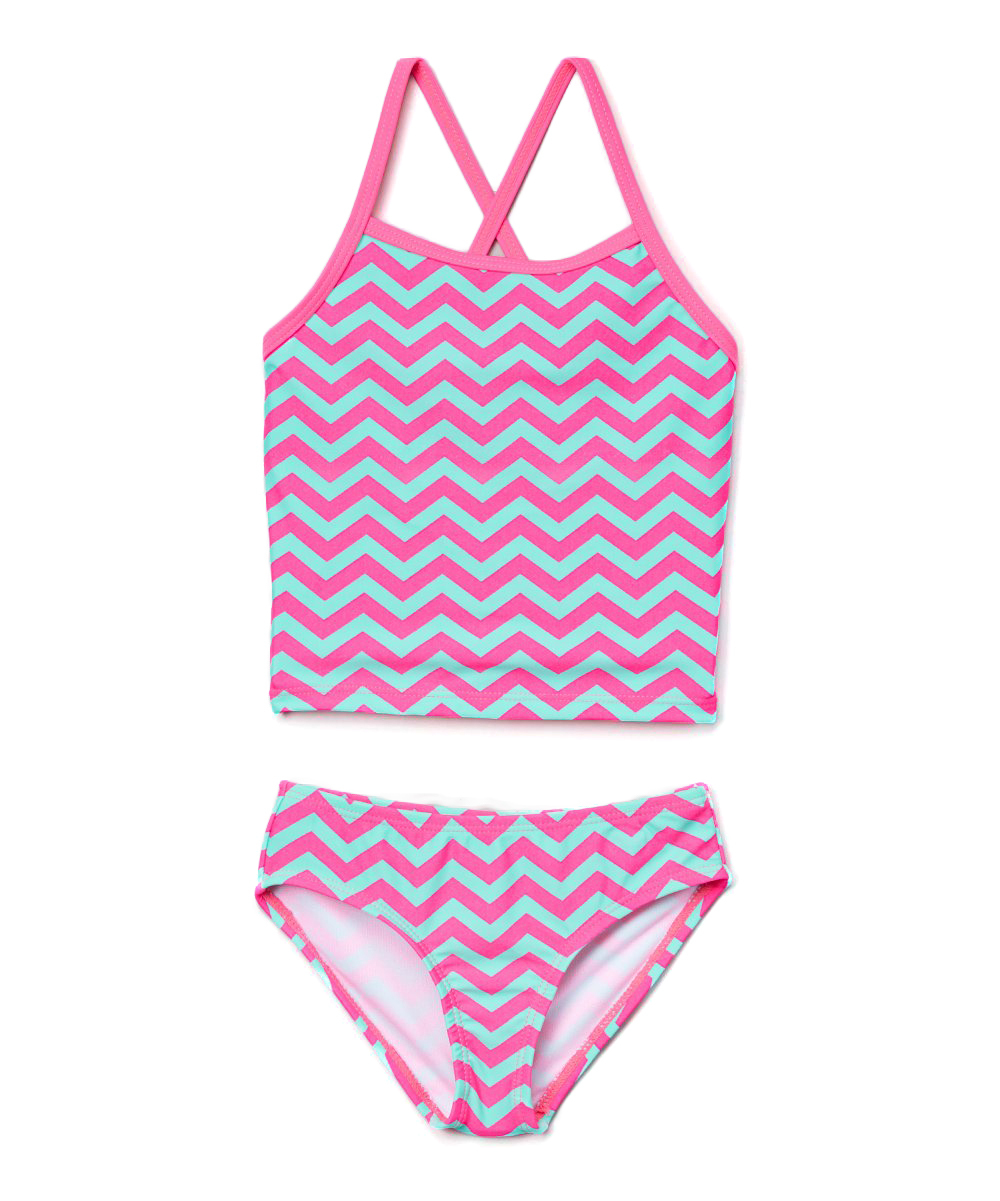 Pink & Aqua Alexa Tankini - Toddler & Girls
