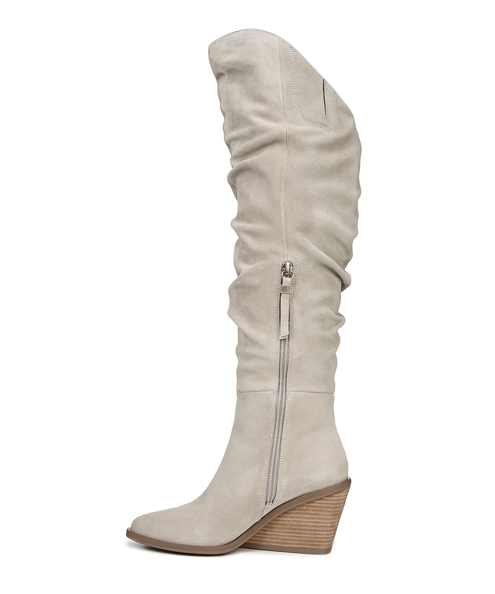 3090a25e1fa love this product Gray Message Suede Over-the-Knee Boot - Women
