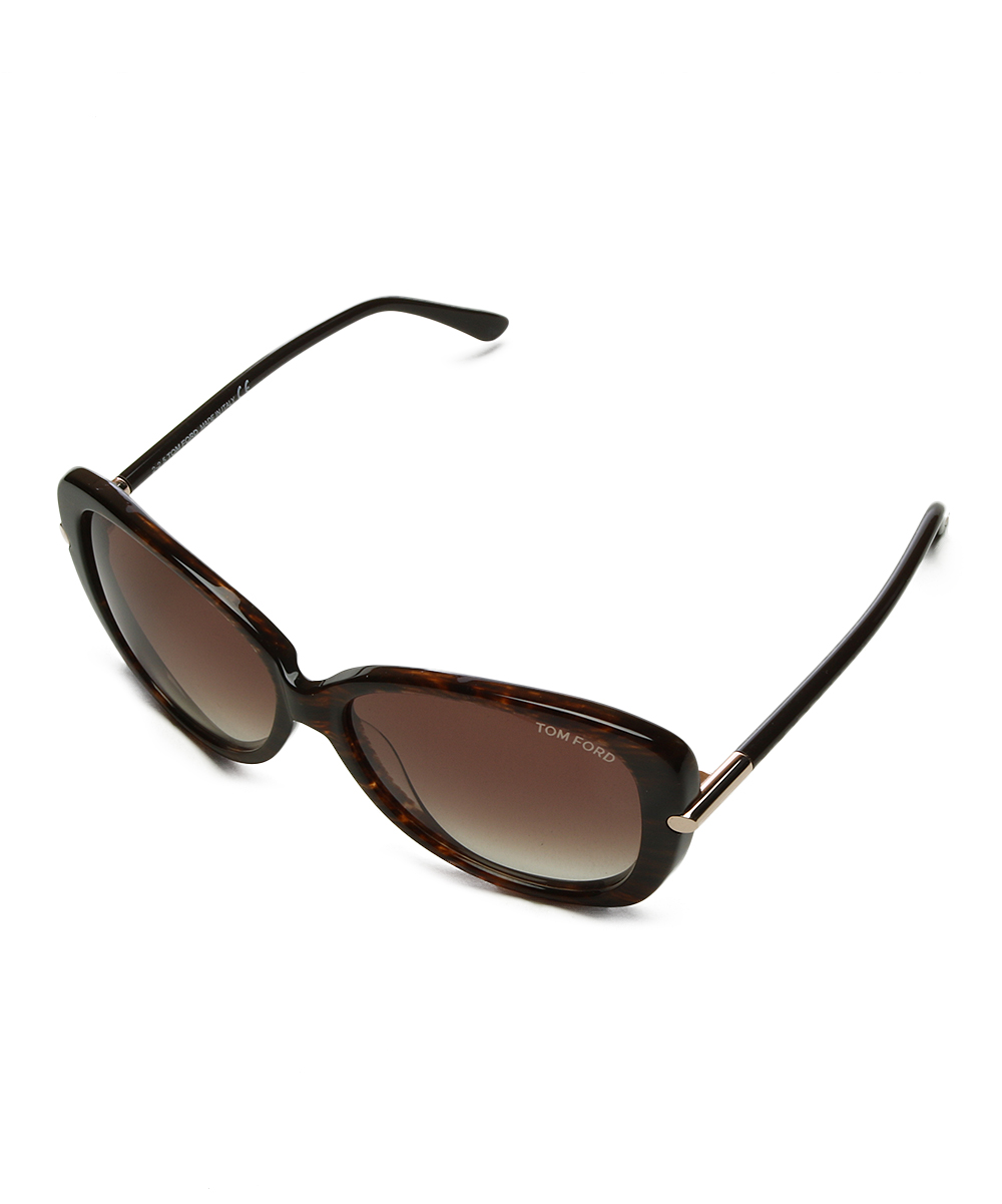 3a644bb3608 Tom Ford Havana Brown Oversize Sunglasses