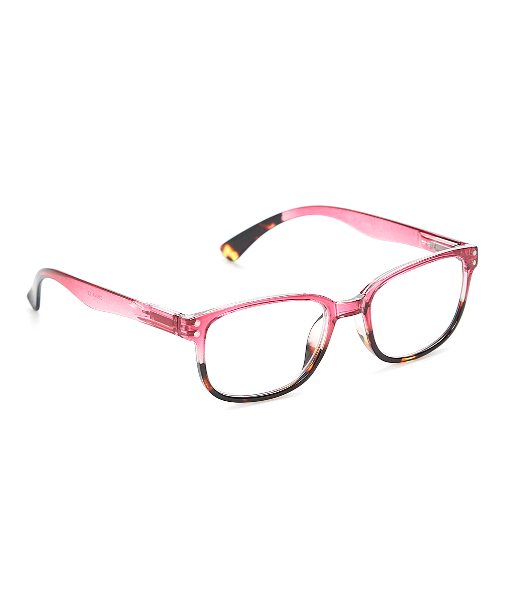 Fashion USA Women's Reading Glasses PINK - Pink & Tortoise Square Readers