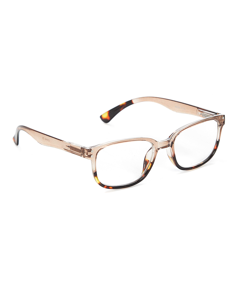 Fashion USA Women's Reading Glasses BEIGE - Beige & Tortoise Square Readers
